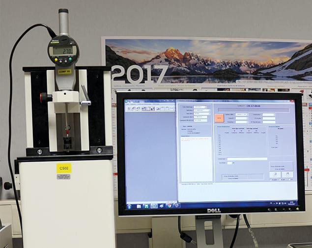 Étalonnage comparateurs avec banc automatique