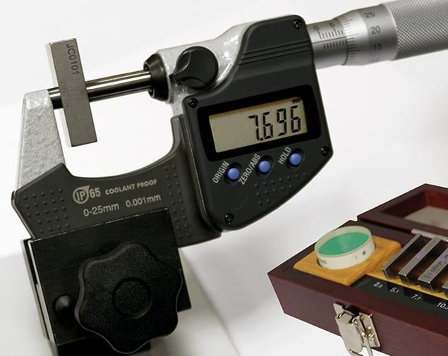 Étalonnage micromètre