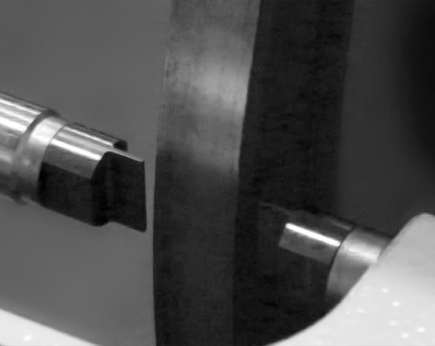 Rodage des touches d'un cé de mesure